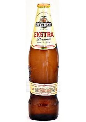Cerveza ligera  EKSTRA 5.2%alc.0.5L. SVYTURYS 1784