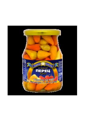 Pimiento picante MEZCLA (pepperoni) 370ml.ALDIM