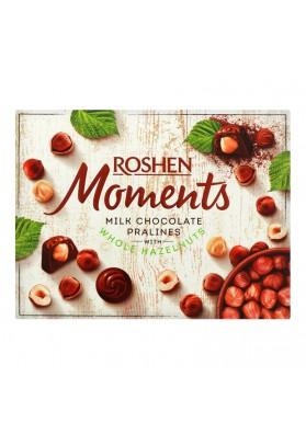 Bombones de chocolate MOMENTOS con avellanas enteras 116gr.ROSHEN