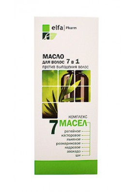 Aceite para cabello COMPLEJO DE 7 ACEITES (contra la caida) 100ml.ELFA PHARM