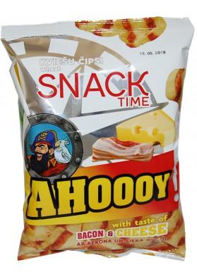 Chips de trigo AHOOOY con sabor de becon y queso 40gr.SNACK TIME