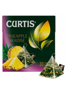 Te de hojas verdes PINEAPPLE PARADISE en piramides 32gr.(20x1,6gr.) CURTIS