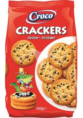 Galletas CRACKRS con sesamo 15x150gr CROCO