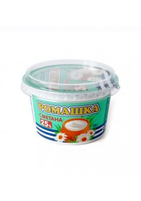 Crema agria 25% grasa 18x200gr.ROMASHKA LASE