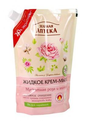 Jabon liquido en crema MOSCADA ROSA Y ALGODON en un tubo 460ml.FARMACIA VERDE