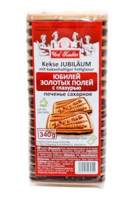 Печенье сахарное ЮБИЛЕЙ с какаовой глазурью 22x340гр.УРАЛ КОНДИТЕР