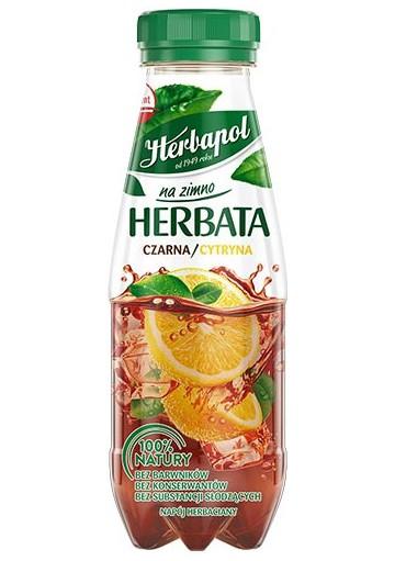 Напиток ЧАЙ ЧЕРНЫЙ ХОЛОДНЫЙ с лимоном 12x300мл.HERBAPOL