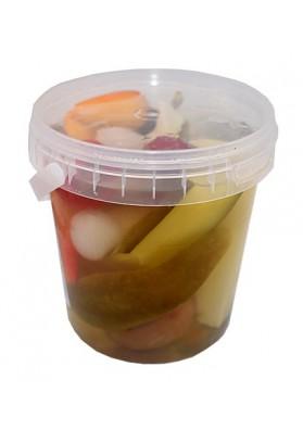 Surtido de verduras marinadas en cubo 14x400gr.FULES SAVANYU
