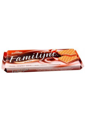 Barquillos sabor cacao-nata 12x180gr FAMILY