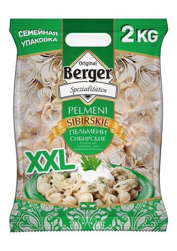 Pelmeni SIBIRSKIE 8x2kg.BERGER
