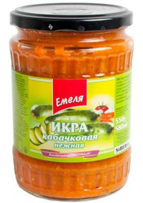 Pure de calabacin NEZHNAYA 12x540gr.EMELYA