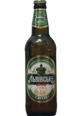Cerveza LVOVSKOE claro 20x0.5L. 3.7%alc.
