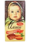 Chocolate  ALENKA de leche con almendras 90gr KO