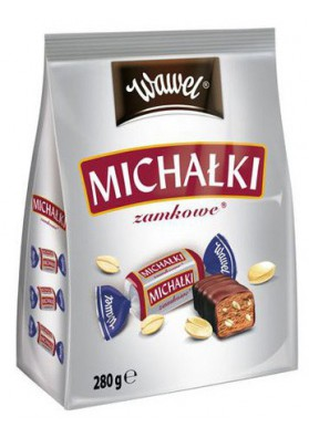 Bombones de chocolate  MICHALKI con cacahuete 280gr WAWEL