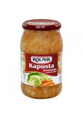 Col fermentado con zanahoria 900ml x12 ROLNIK