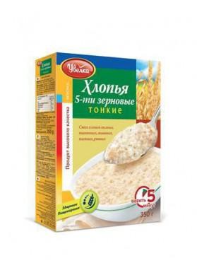 Copos de 5 cereales finos 14x350gr.UVELKA