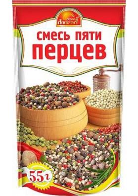 Mezcla de 5 pimientos 30x55gr RUSSKIY APPETIT