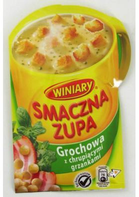Sopa de guisante seco con pan tostado 30x21gr WINIARY