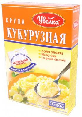 Grano de maiz en paquete 5x80gr.UVELKA