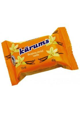 Requeson dulce bañado en chocolate sabor vanilla 45gr KARUMS