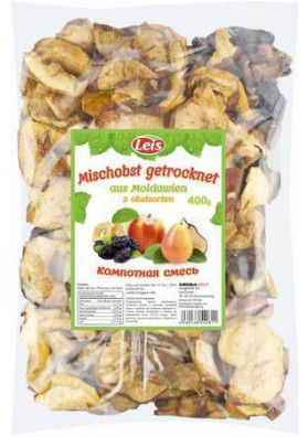 Surtido de frutas secos para compota de 3 ingredientes 400gr LEIS