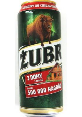 Cerveza ZUBR 24x0.5L 6.0%alk. lata