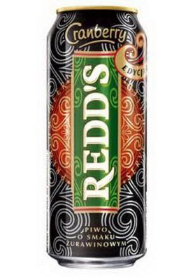 Cerveza Redds sabor arandano rojo 4.5%alk.0.5L