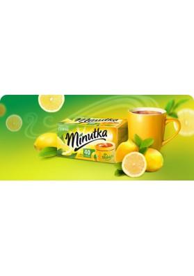 Te negro sabor limon 40paquetes 56gr MINUTKA