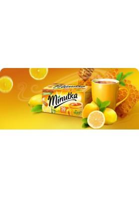 Te negro con miel y vitamina C 20 paquetes 34gr MINUTKA