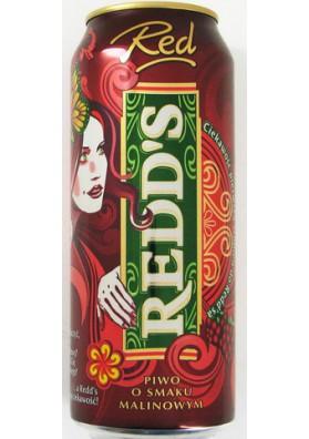 Cerveza Redds sabor frambuesa 0.5L 4.5%alk.lata