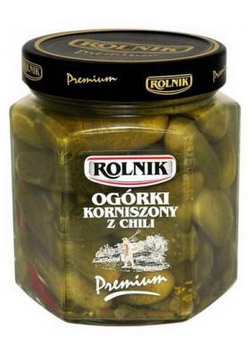 Pepinillos concervado con chili 6x540gr ROLNIK