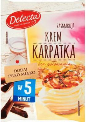Crema para bizcochosKARPATKA 15x145gr DELECTA