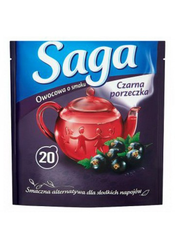 Te de frutas sabor casis 20x1.7gr SAGA