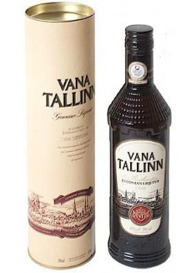 Licor VANA TALLINN en caja de regalo 40%alc.0.5L
