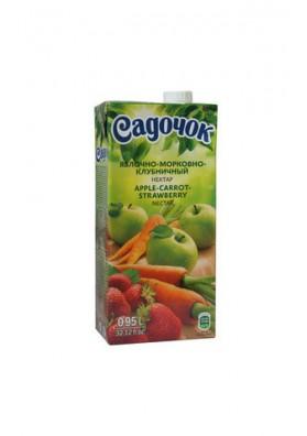 Nectar de manzana-zanahoria-fresa 12x0.95L SADOCHOK
