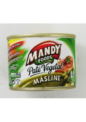 Pate vegetal con olivas 6x200gr.MANDY