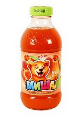 Zumo de zanahoria manzana melocoton 15x0.33L MISHA