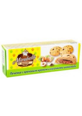 Galletas de avena con crema de avellana y trozos de chocolate 18x160gr MIRABELLA