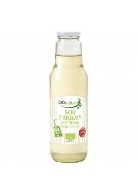 BIO NATURO  Zumo de Abedul con limon Ecologico 750ml  CRISTAL
