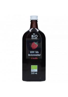 BIO Zumo organico de frambuesas 100% natural 500ml.PolBioEco