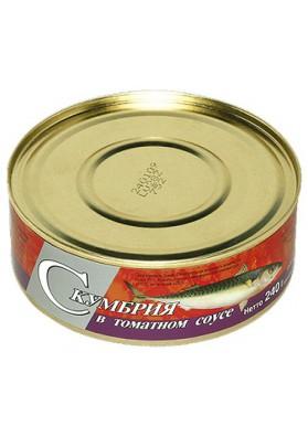 Caballa en salsa de tomate 48x240gr BRIVAIS VILNIS