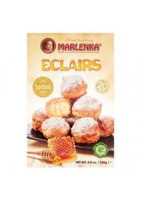 Pasteles ECLAIRS con crema de nata 250gr.(20pzs) MARLENKA nuevo