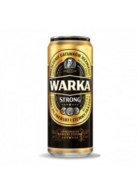 Cerveza WARKA STRONG original 6,5%alc.24x0,5L.enlatada nuevo