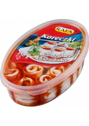 Filete de arenque KORECZKI KASZUBSKIE (rollos) con pasta de tomate 200gr.RAFA