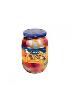 Filetes de arenque PO KASZUBSKU marinados con pasta de tomates 800gr.SEKO