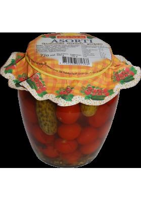 Surtido con tomates cherry y pepinos marinados 8x720ml.ZELTA SAULE