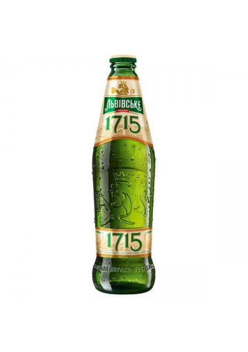 Пиво ЛЬВОВСКОЕ 1715 4,7%алк. 450мл.