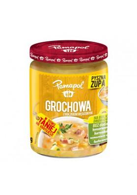 Sopa de guisante con beicon ahumado 4x500gr PAMAPOL