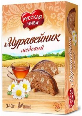 Tarta HORMIGUERO DE MIEL 340gr.RUSSKAYA NIVA
