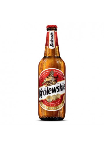Cerveza ligera KROLEWSKIE 5,2%alc.500ml.POLONIA